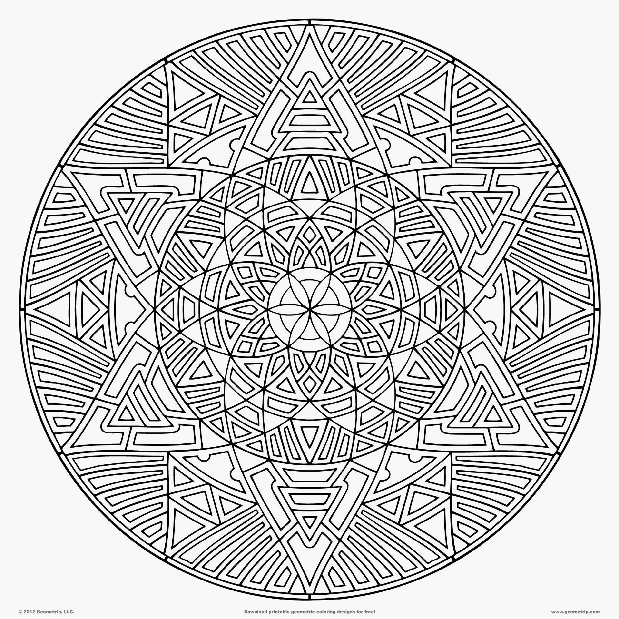 difficult mandala coloring pages - photo#13