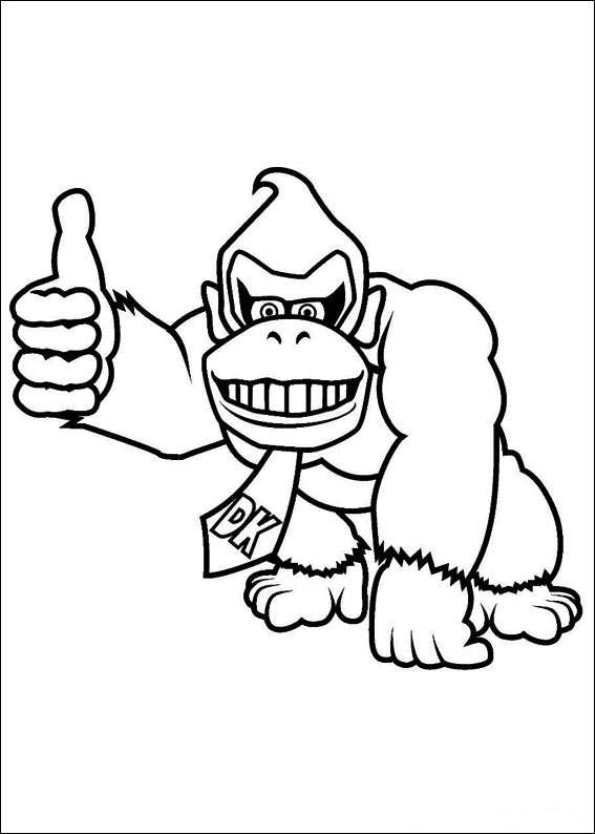Donkey Kong Coloring Page Coloring Home Kong Coloring Pages