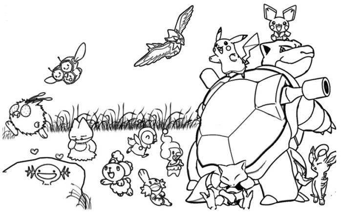 Pokemon Coloring Pages For Adults - CartoonRocks.com