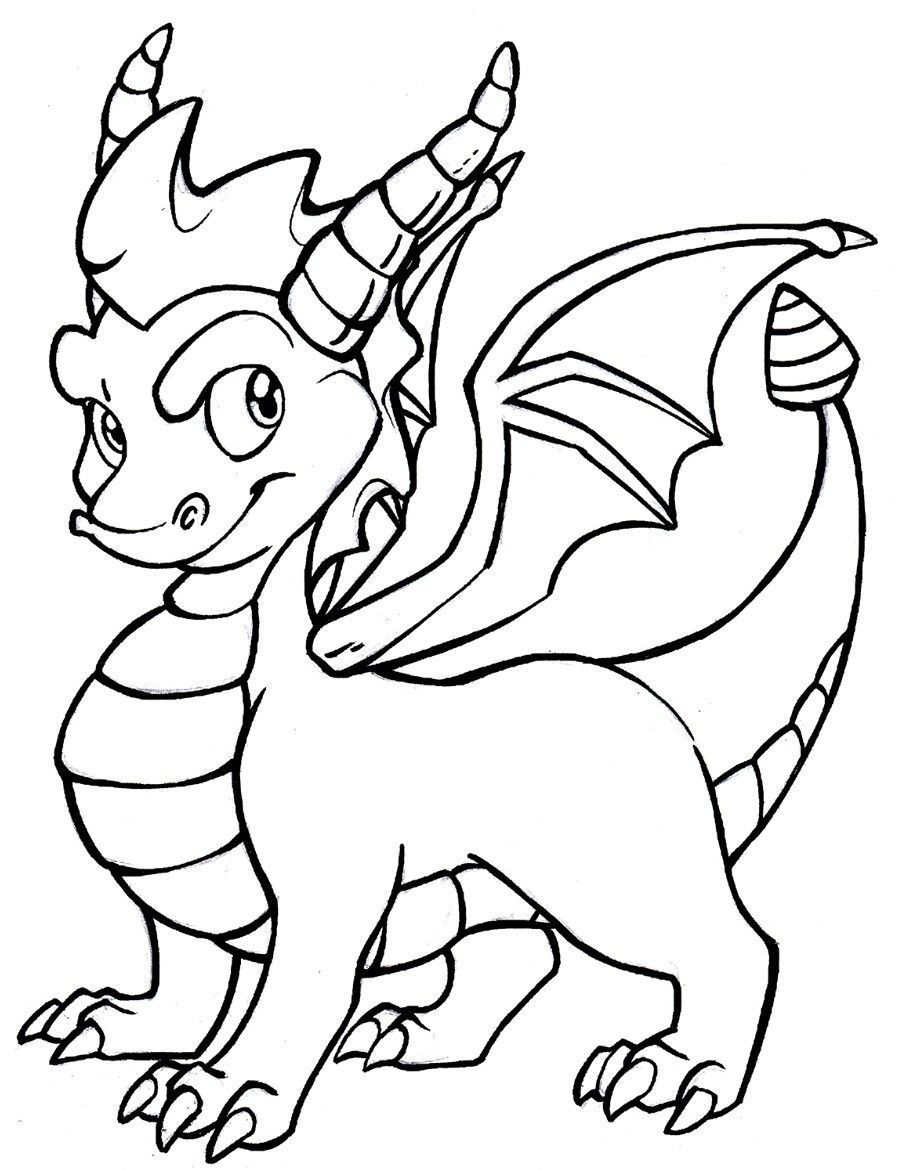 Baby Dragon Coloring Pages - Coloring Home