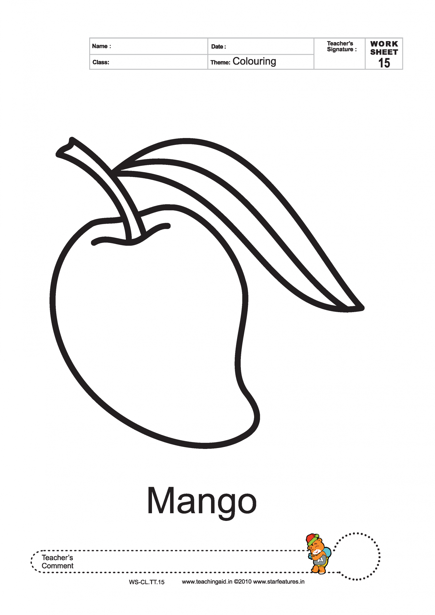 mango coloring pages sketch coloring page