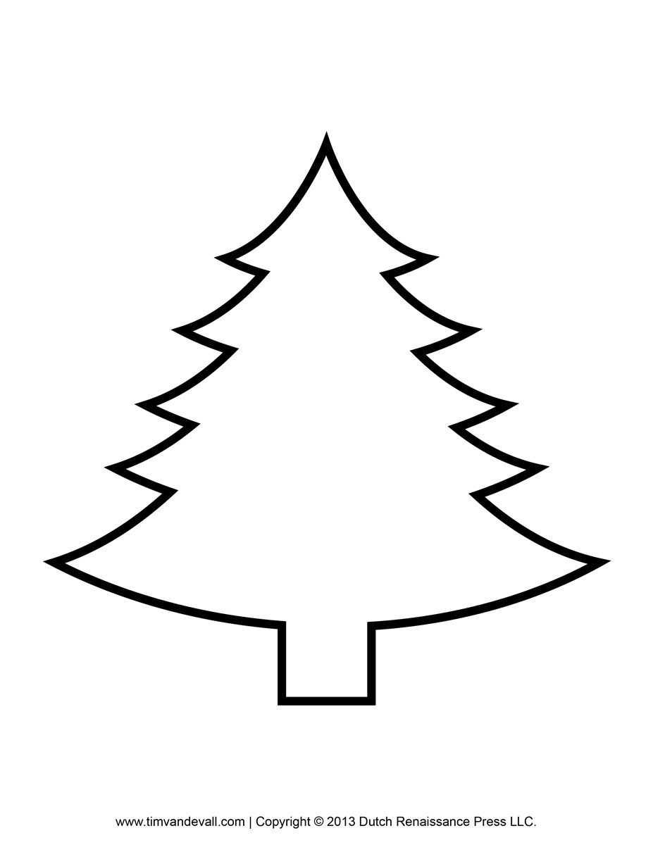 Christmas Tree Outline.Christmas Tree Outline Aegisfilmsales Coloring Home