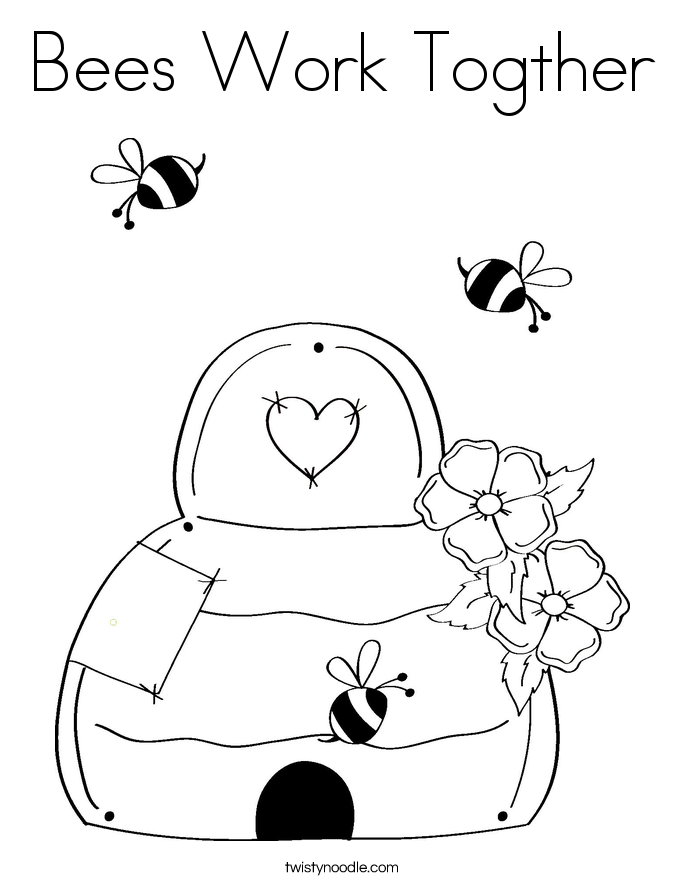 beehive coloring page coloring home
