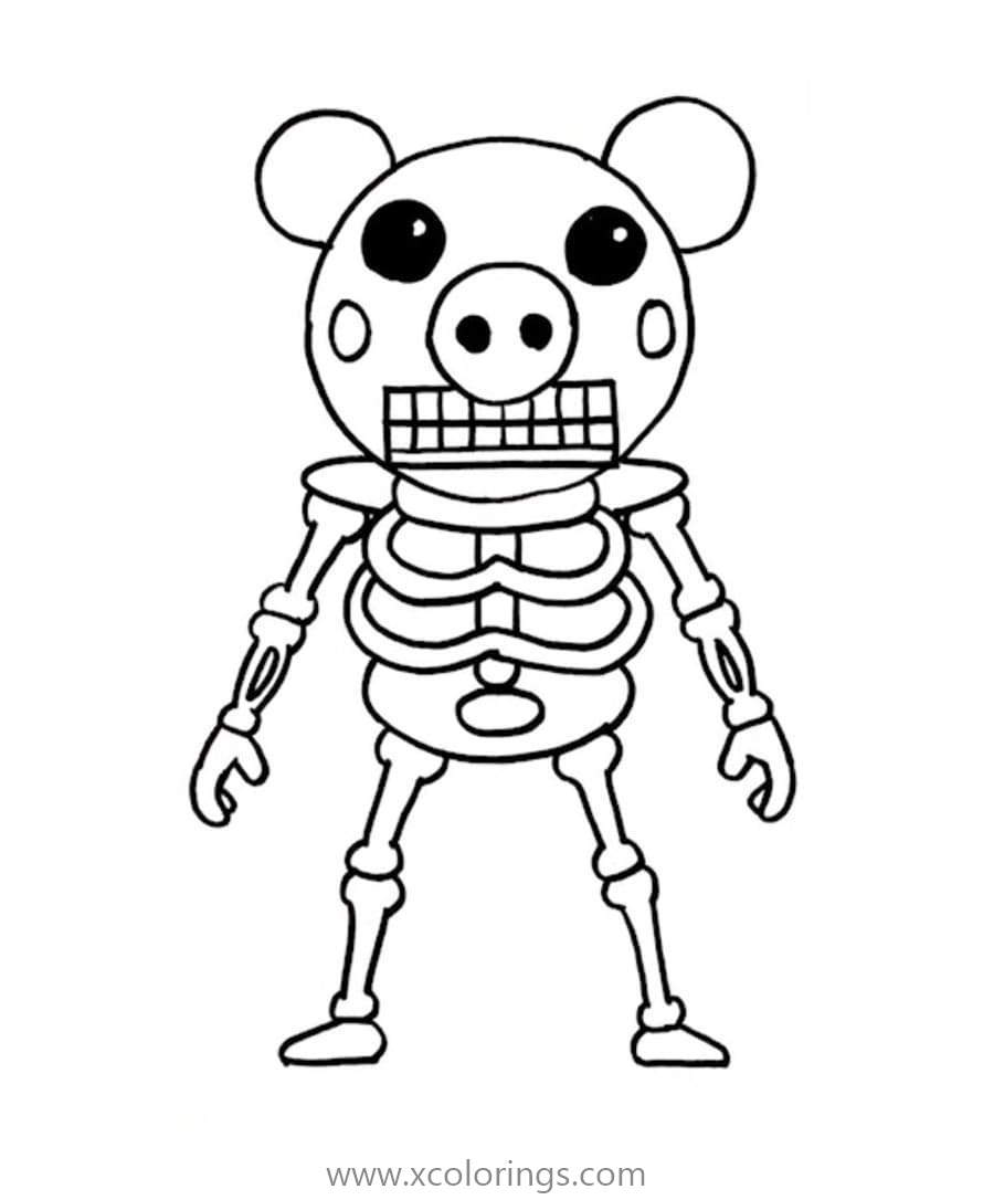 Piggy Roblox Coloring Pages Coloring Home