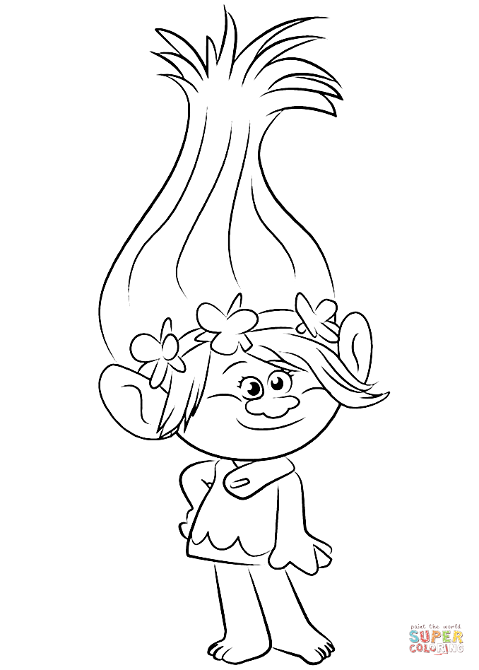 Princess Poppy Coloring Pages - Coloring Home