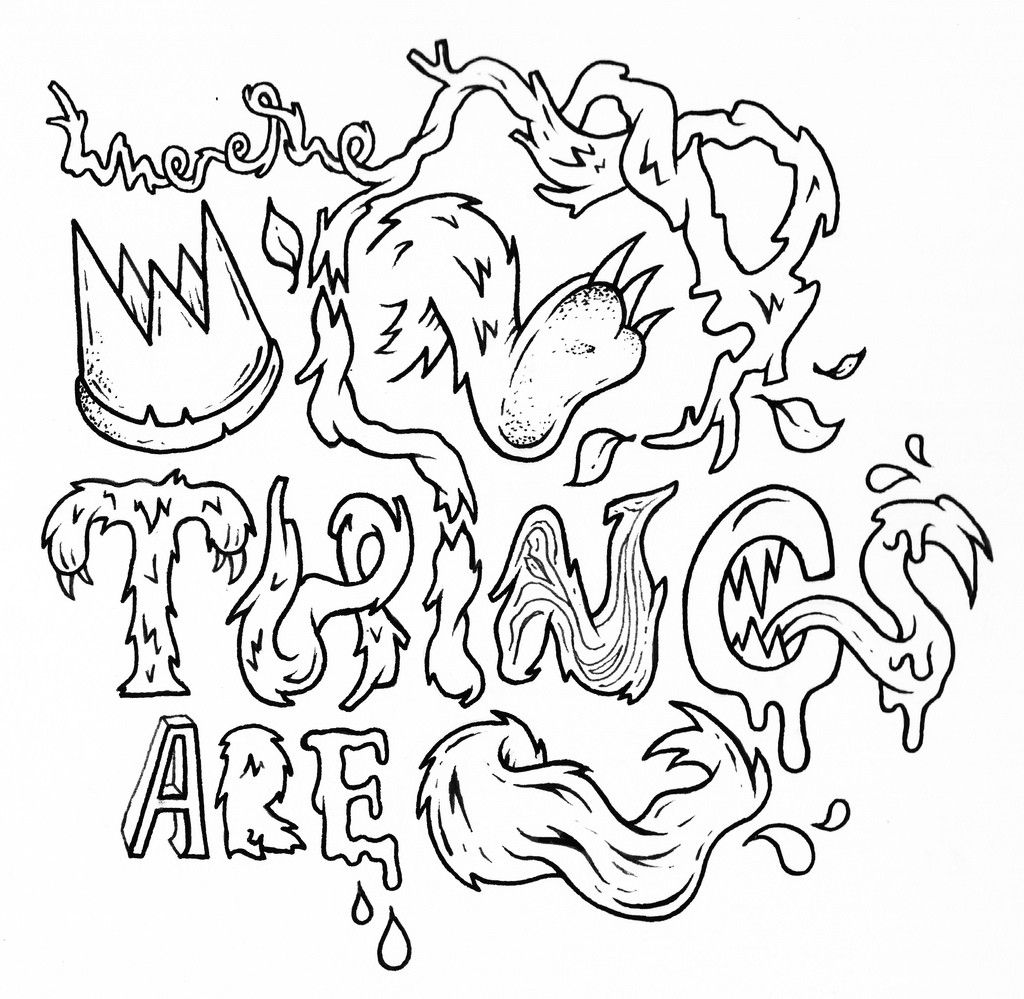 where the wild things are coloring pages free cartoons