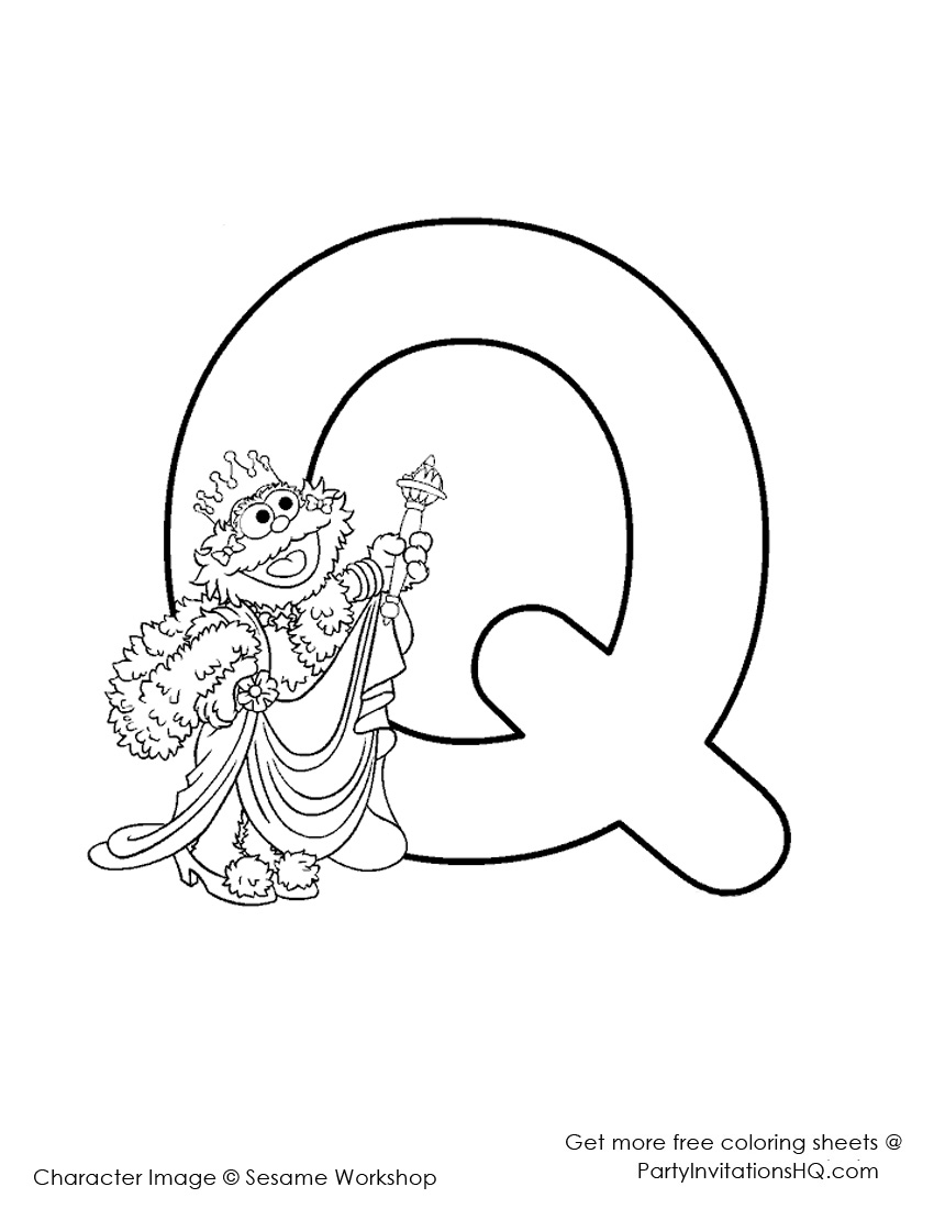 elmo coloring pages alphabet animal - photo#24