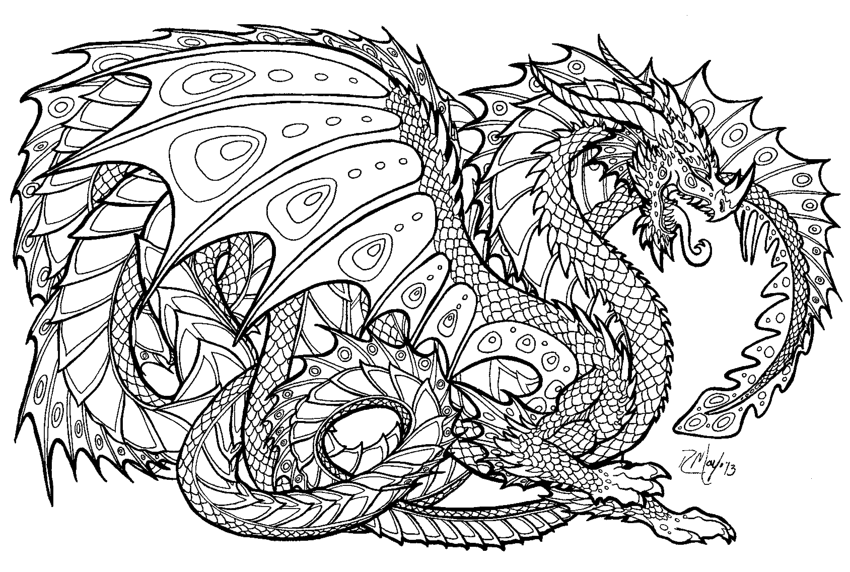 Free Printable Coloring Pages For Adults Advanced Dragons Free Printable Coloring Pages For Adults Advanced