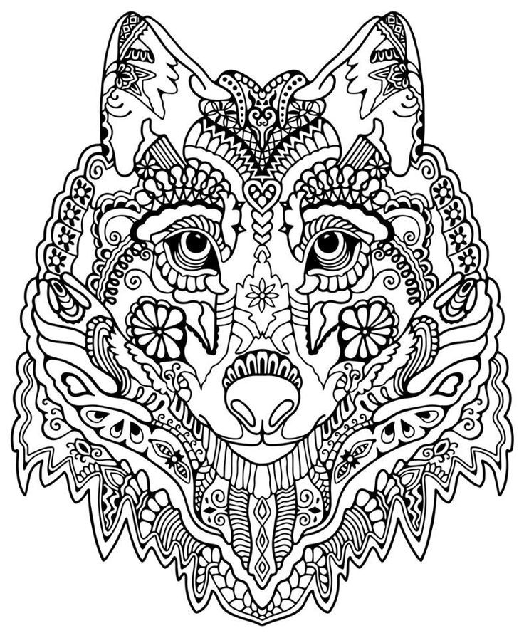 Wolf Coloring Pages Pdf : Wolf color in free printable coloring pages for