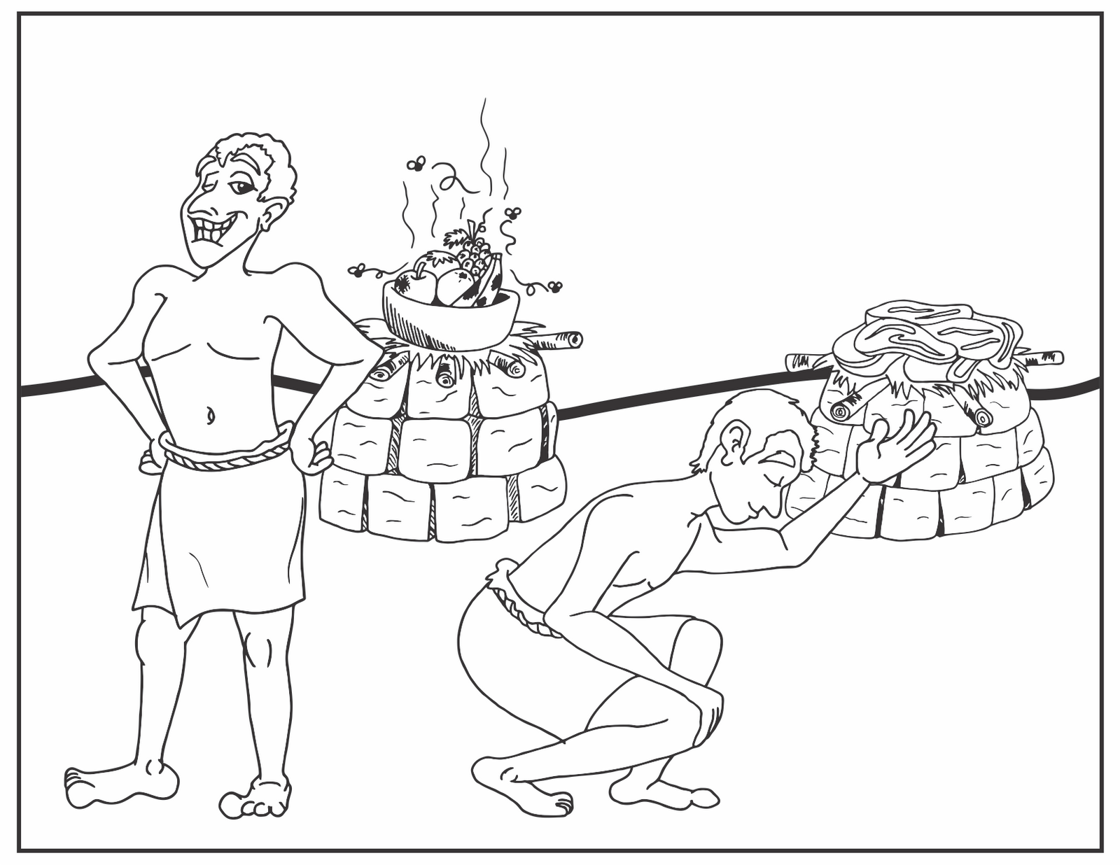cain and abel coloring pages - photo#15