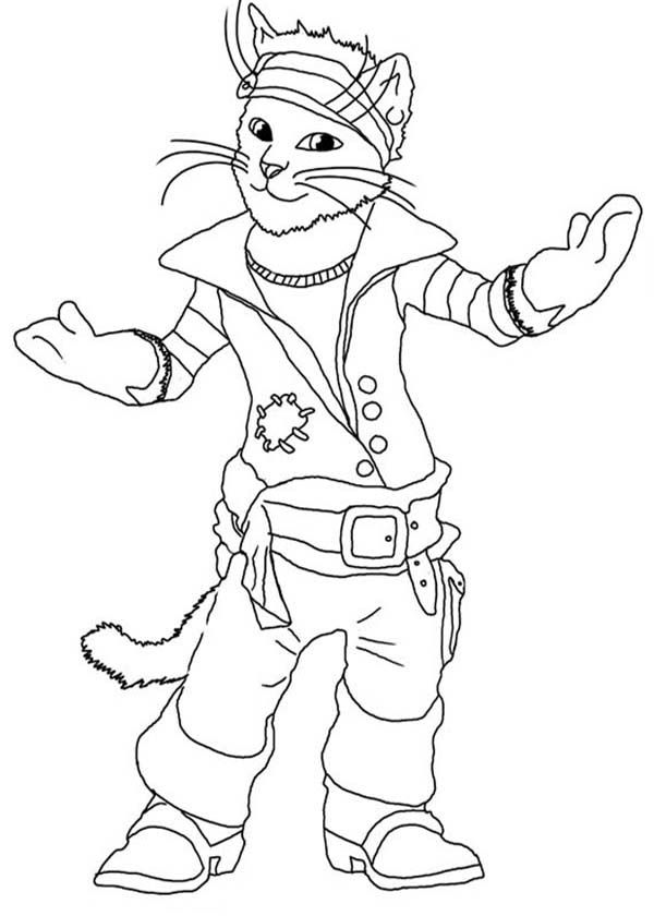 Puss In Boots Coloring Page Coloring Home