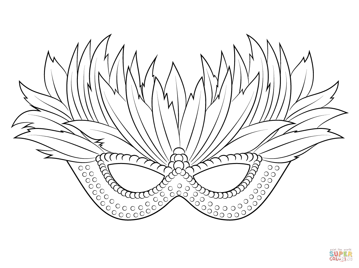 Venetian Mardi Gras Mask coloring page | Free Printable Coloring Pages