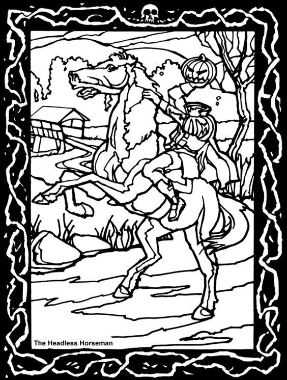 100 Ideas Headless Horseman Coloring Pages On Voluntpriscom