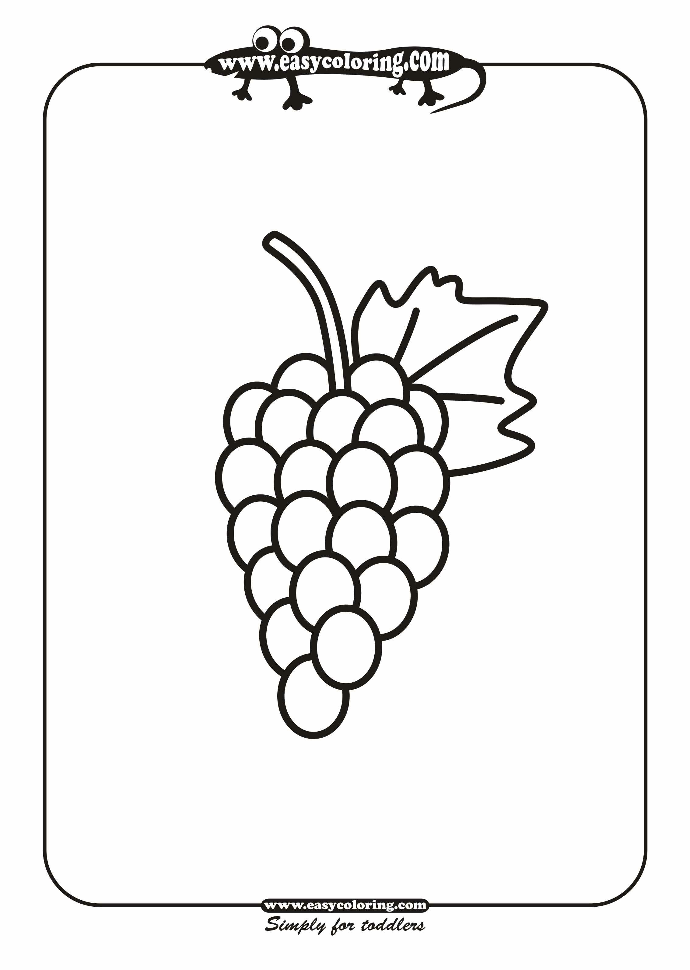 Grapes Coloring Page Coloring Home