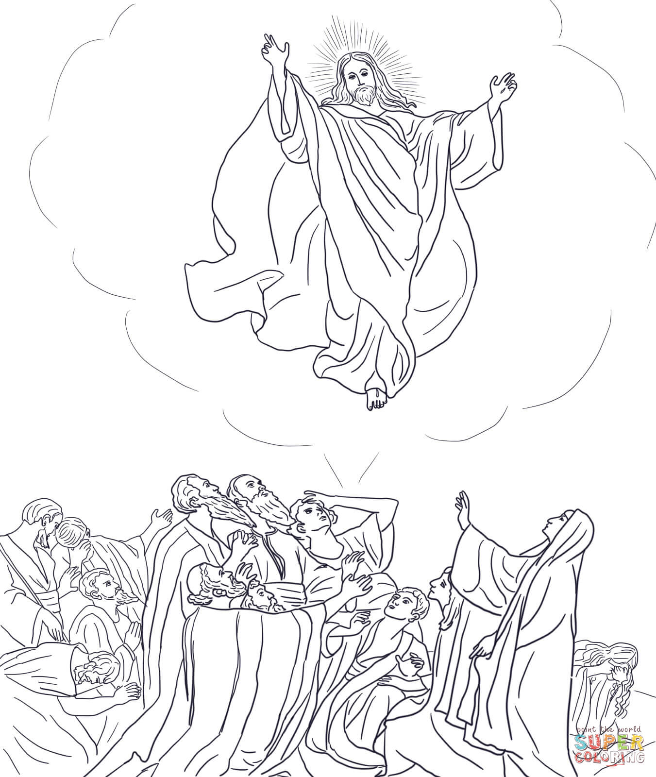 Ascension Of Jesus Coloring Page