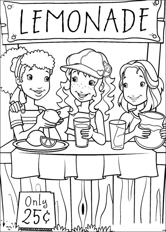 Lemonade Stand Coloring Page