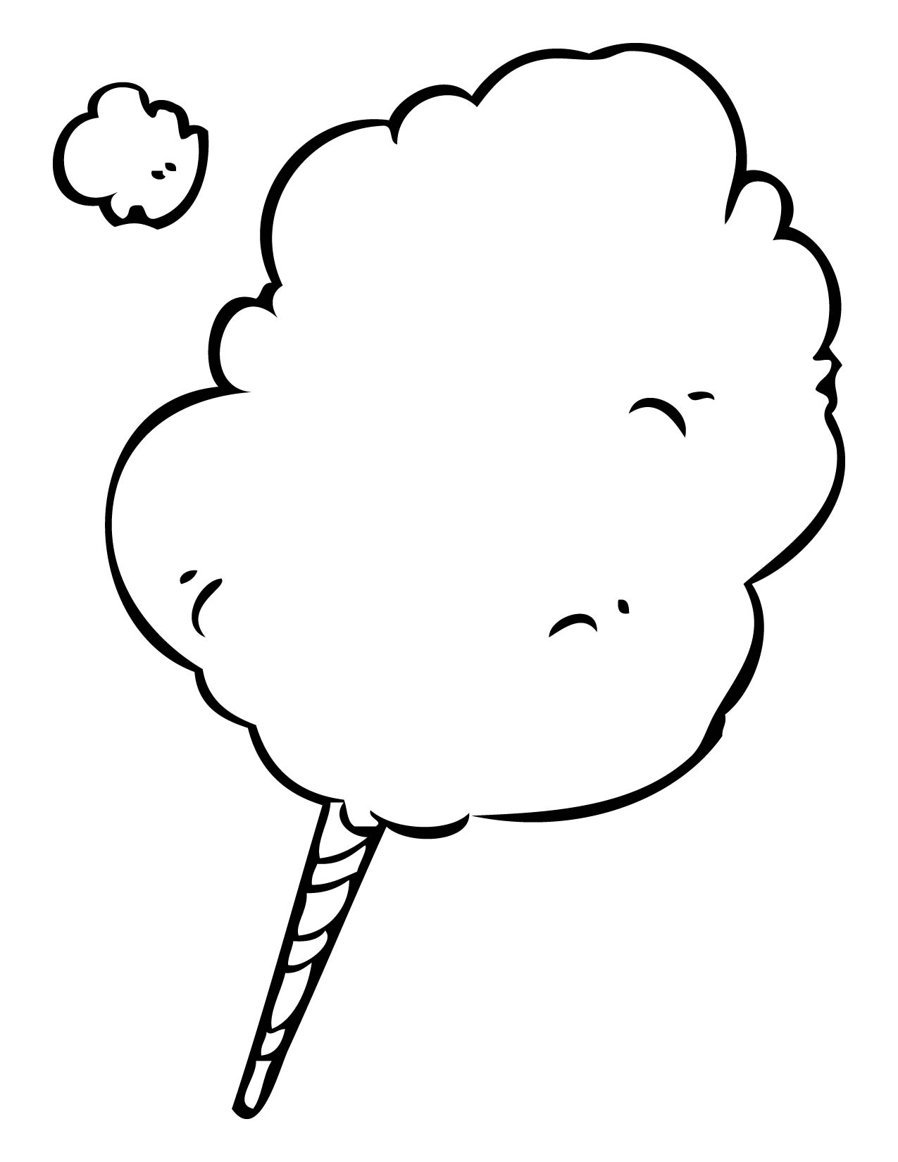 Cotton Candy Coloring Pages Coloring Home Cotton Coloring Sheet