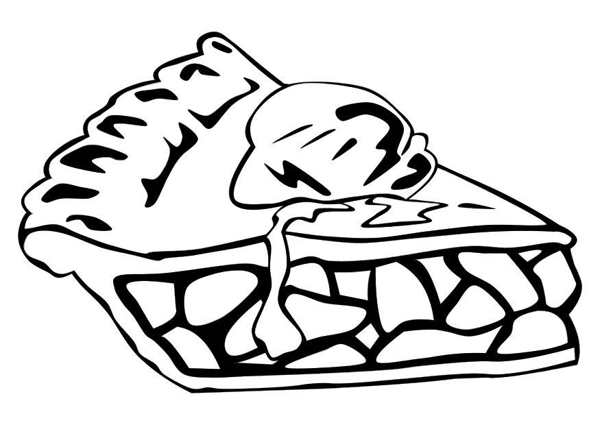 Coloring Page Apple Pie