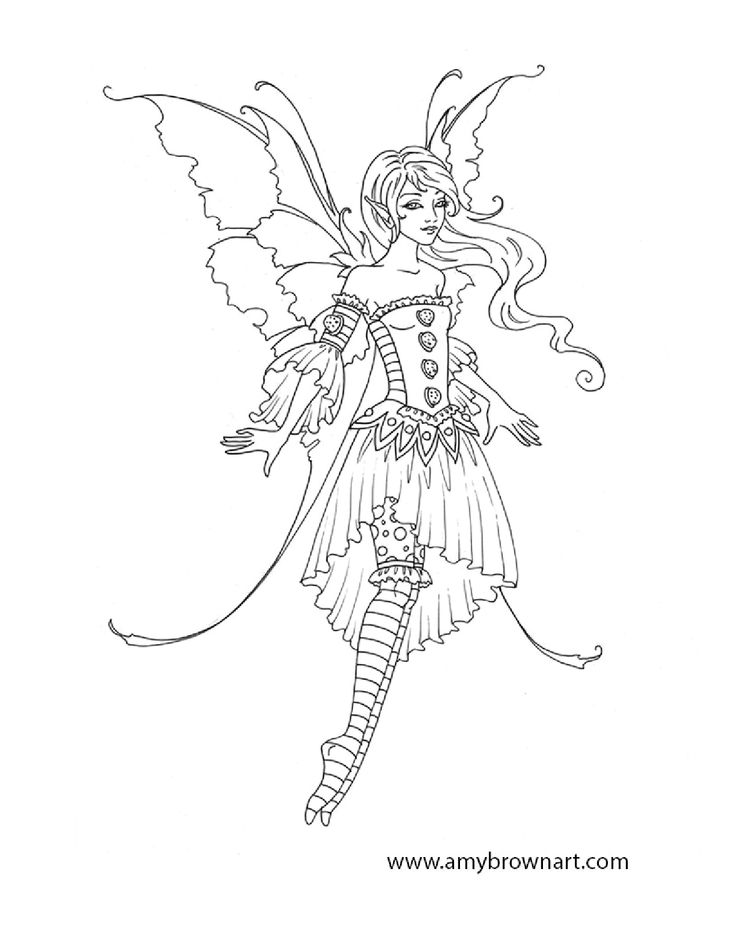 amy brown coloring pages free - photo#1