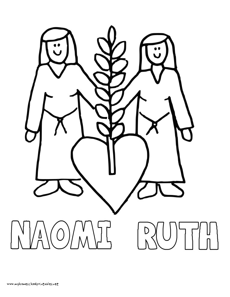 Ruth And Naomi Coloring Pages Coloring Home
