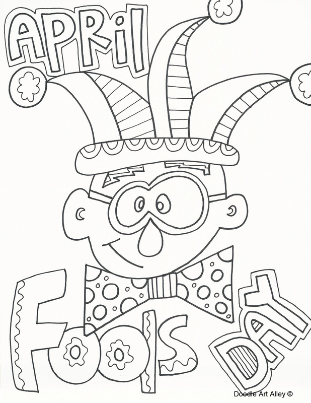 april fools day coloring pages - photo#4