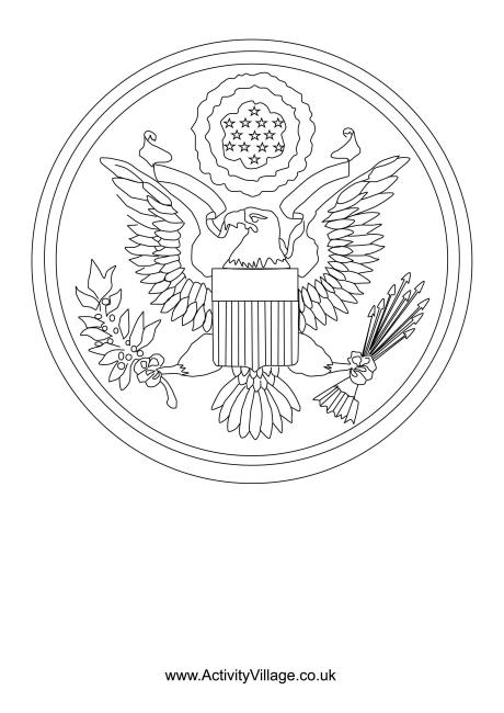 great seal of the us coloring page