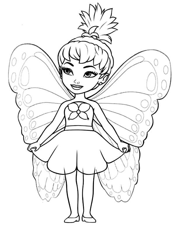 Princess Butterfly Coloring Pages