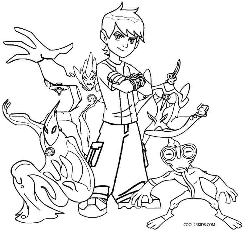 Ben 10 coloring pages printable games | Ben 10, Coloring pages ... | 750x791