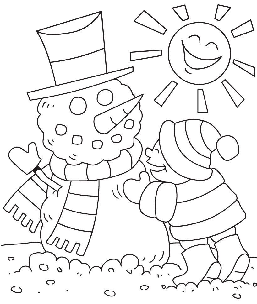Free winter coloring pages for toddlers - Winter Coloring Worksheets For Kindergarten The Largest And Most