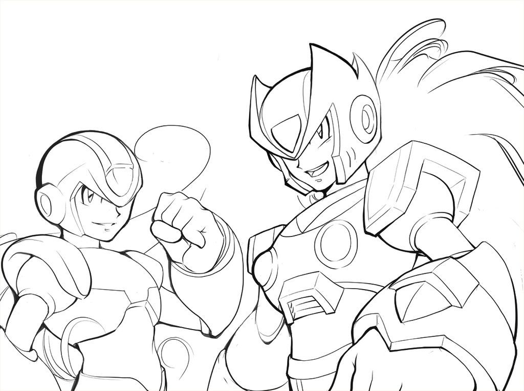 mega man coloring pages free - photo#26