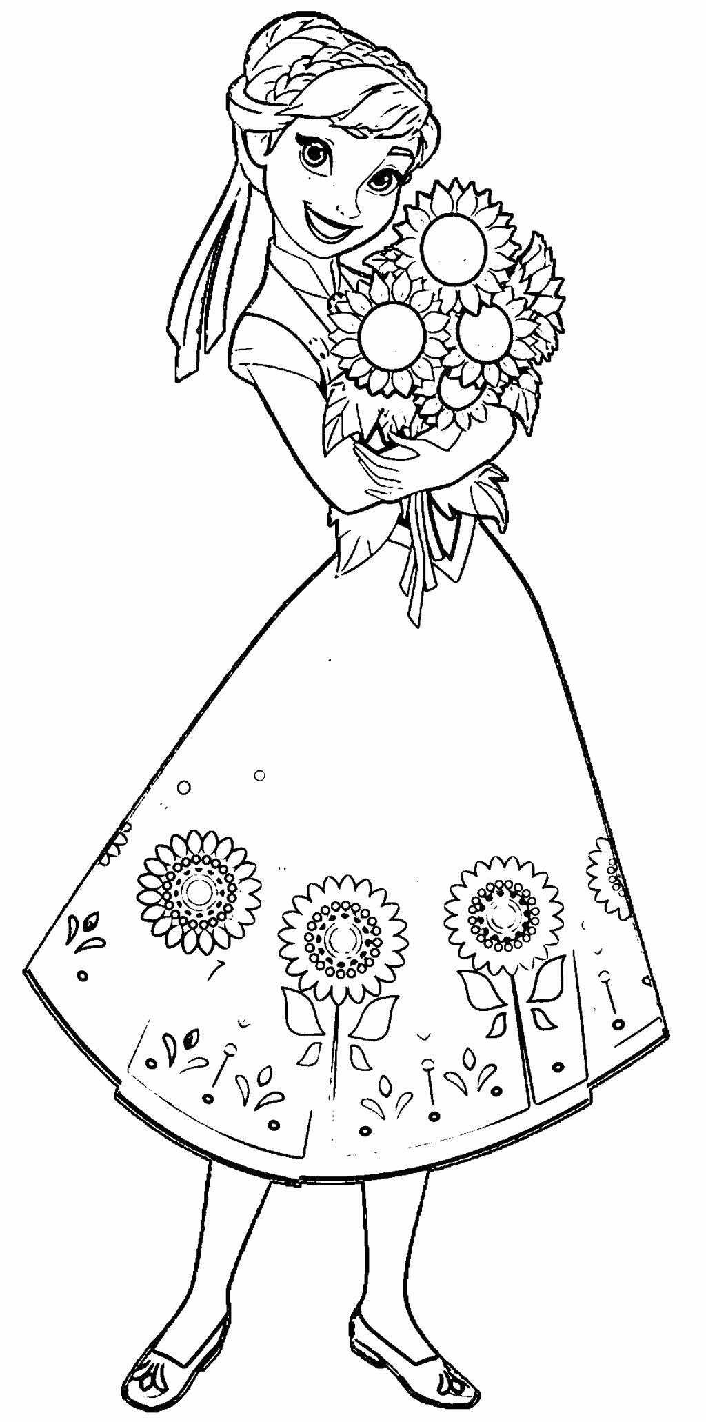 - Anna Frozen Coloring Pages - Coloring Home