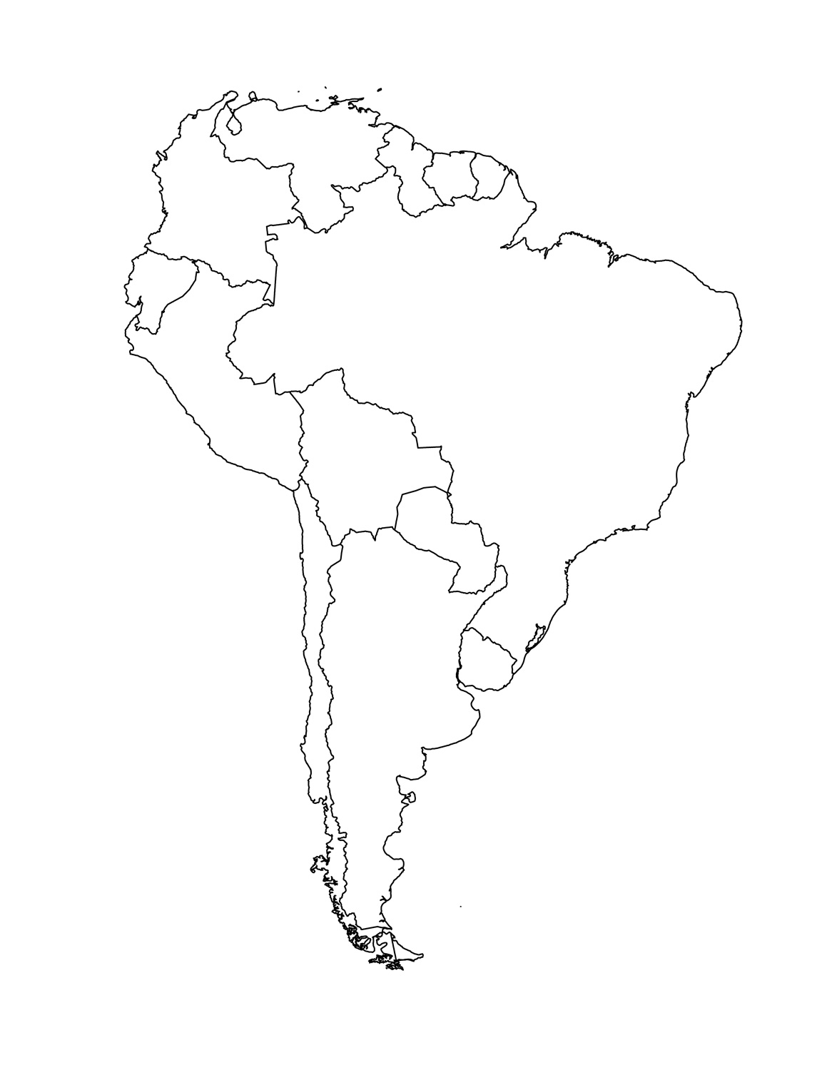 Best Photos Of Us And South America Map Outline Blank South