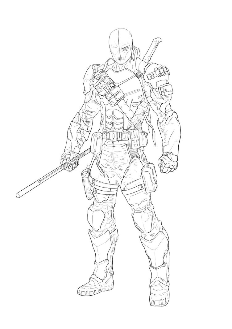 Deathstroke Coloring Pages Coloring