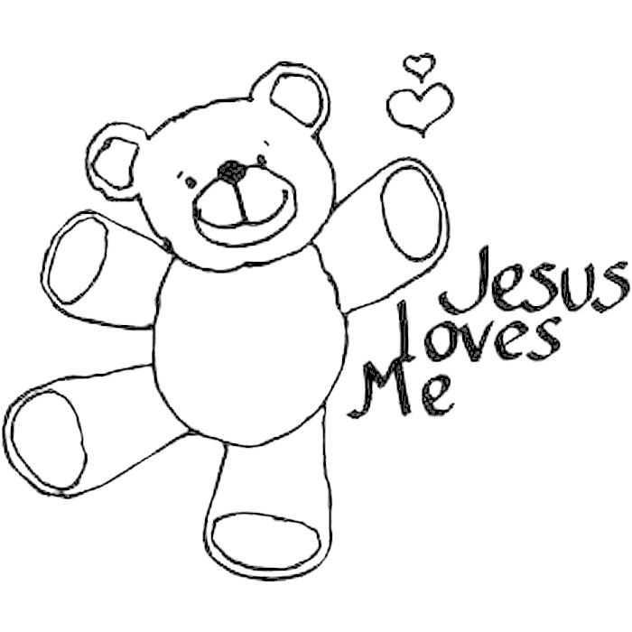 god loves me coloring page : Free Coloring - Kids Coloring Pages