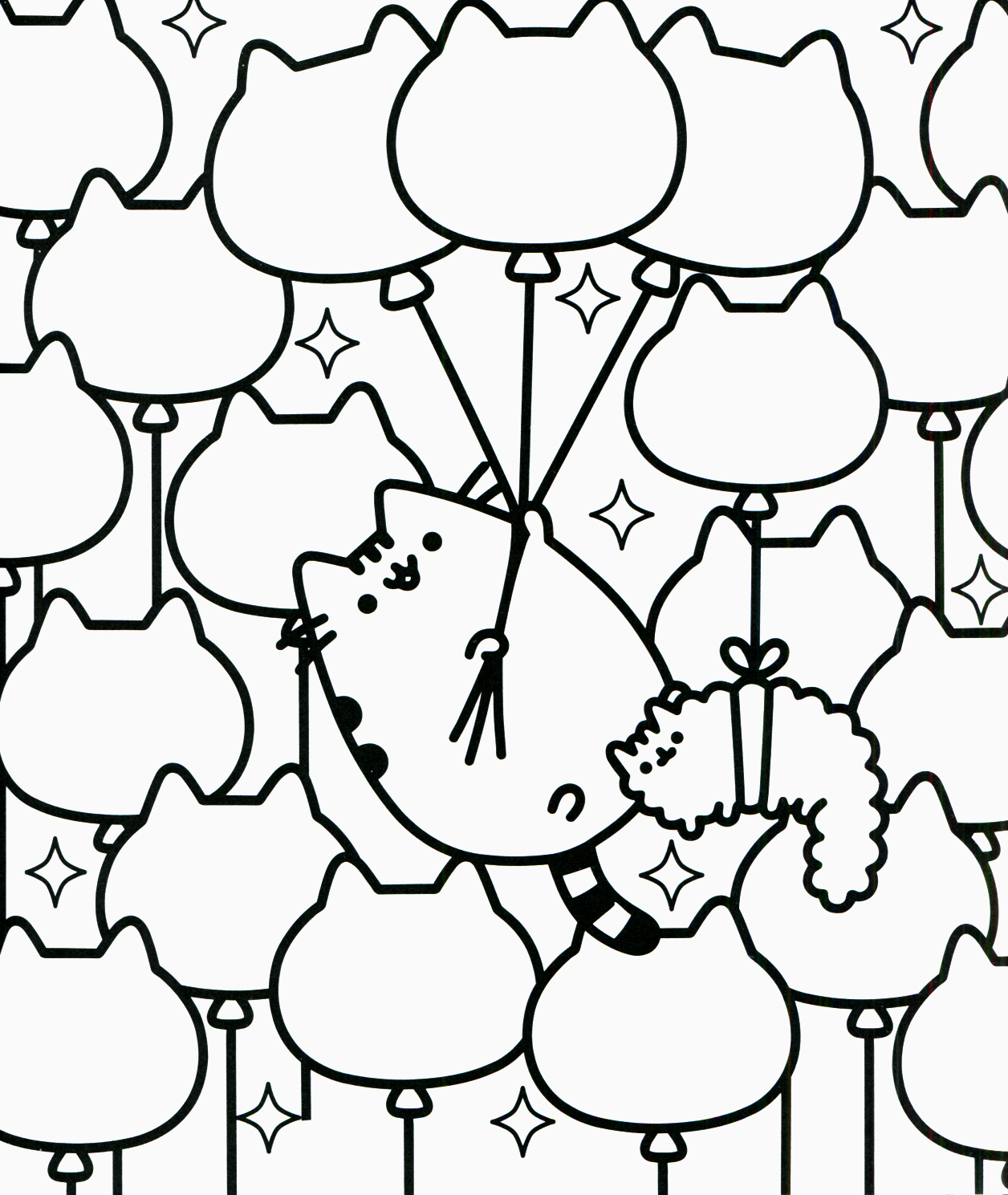 Pusheen Coloring Pages Printable | Database Coloring Page Ideas