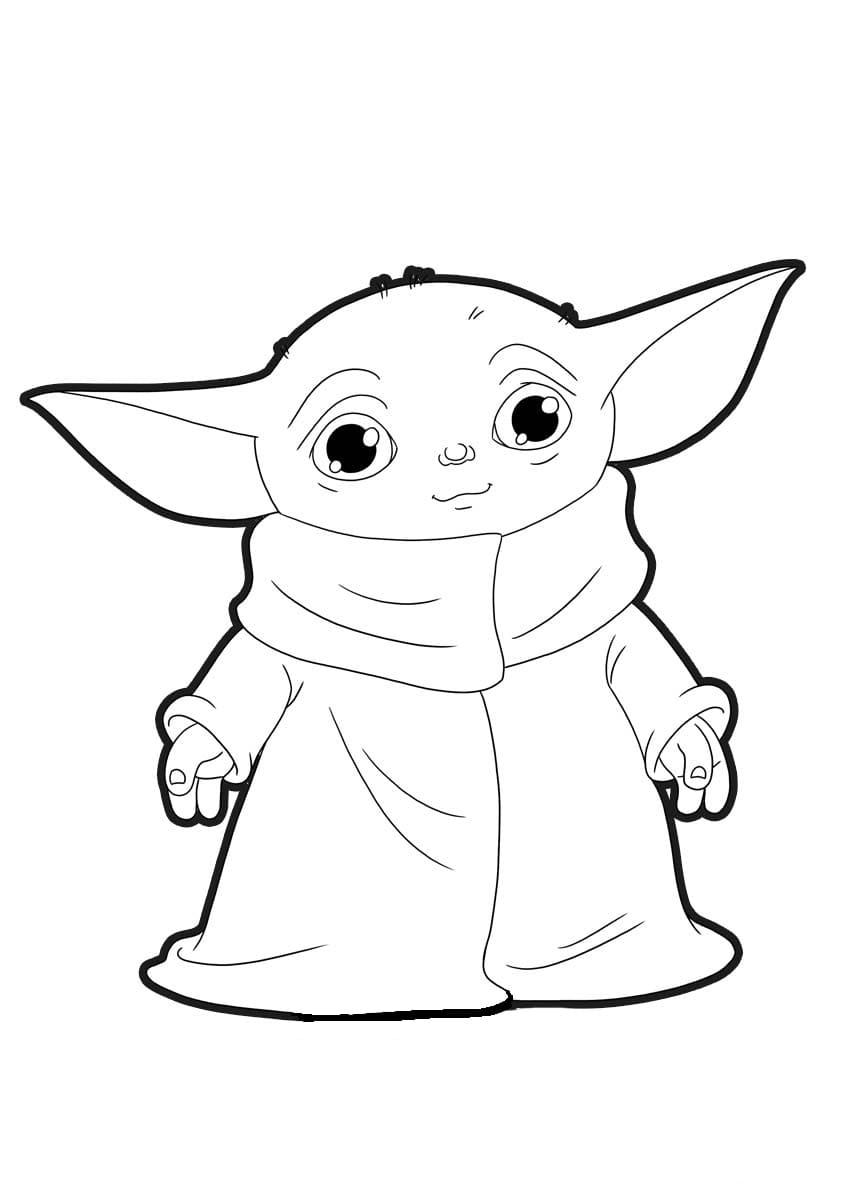 Baby Yoda Coloring Pages - Coloring Home
