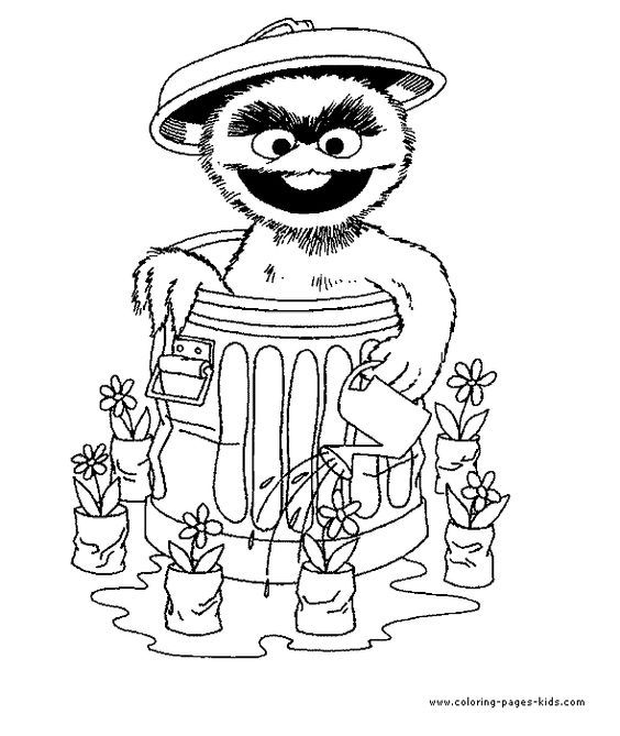 oscar the grouch coloring pages | Oscar The Grouch Coloring Page - Coloring Home