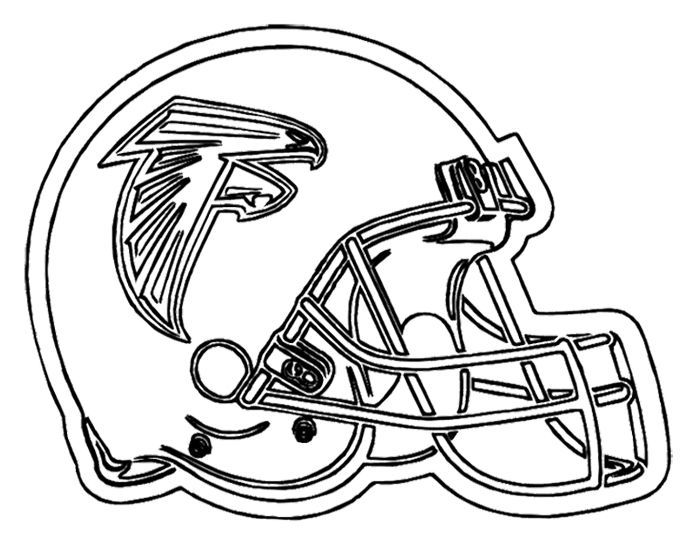 Football Helmet Atlanta Falcons Coloring Page | Kids Coloring ...