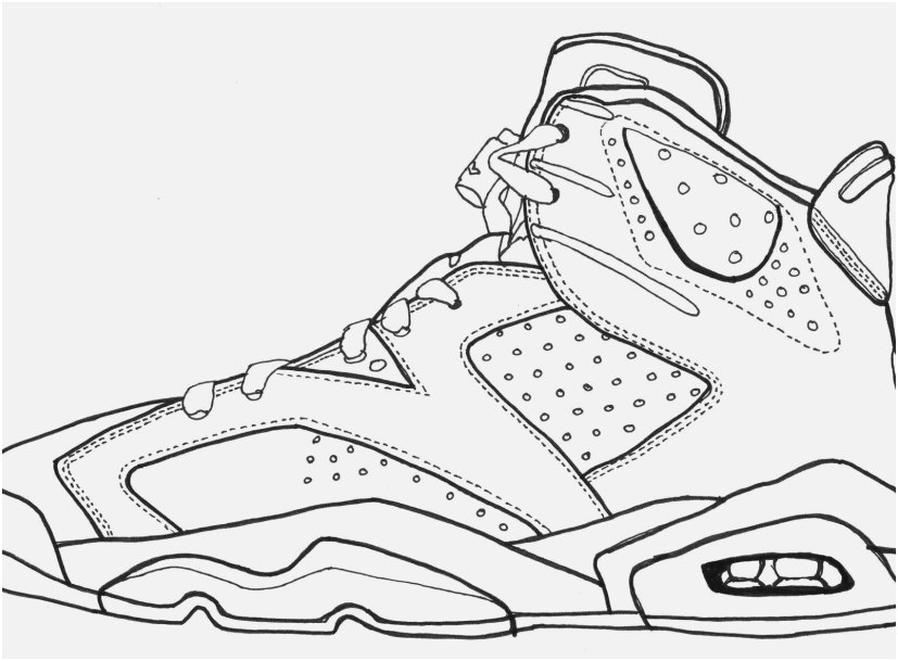 Basketball Shoes Coloring Pages - Coloring Home
