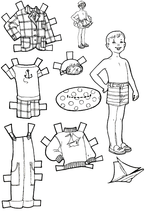 Paper Doll Clothes Coloring Pages - Coloring Home
