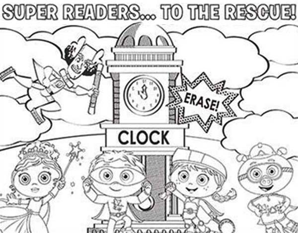Super Readers Coloring Pages - Coloring Home