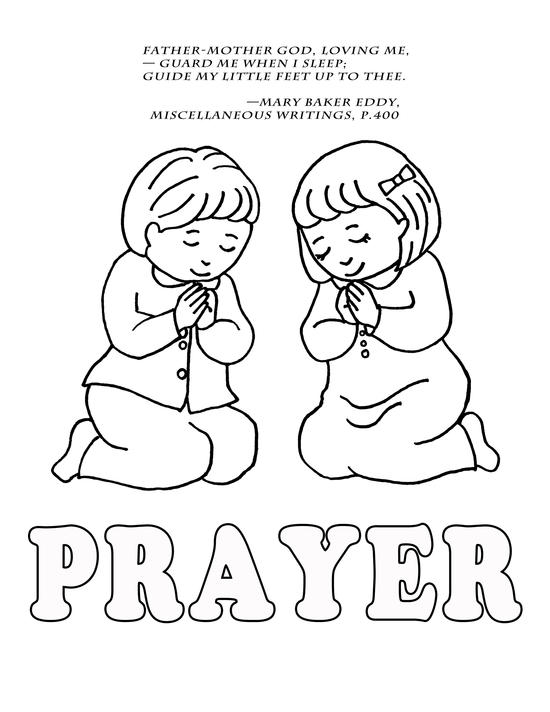 kids prayer coloring pages - photo#10