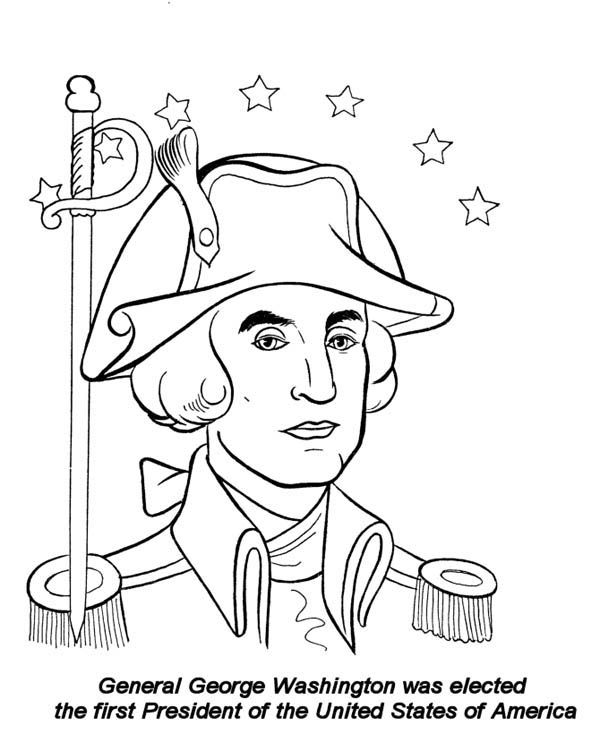 George washington coloring pages coloring home for George washington coloring pages