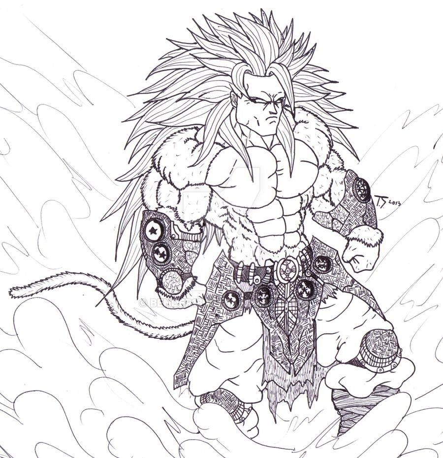 Dragon Ball Z Coloring Pages Super
