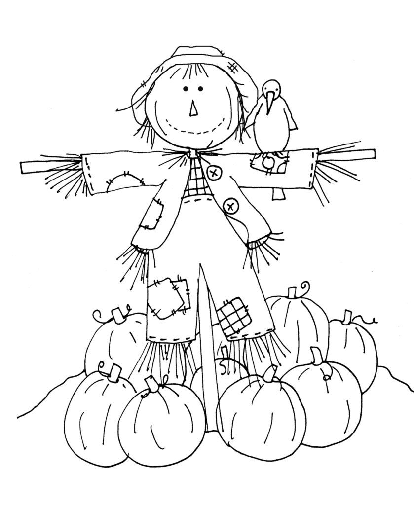 8x11 girl scarecrow coloring pages | Coloring Pages Of Scarecrows For Preschooers - Coloring Home