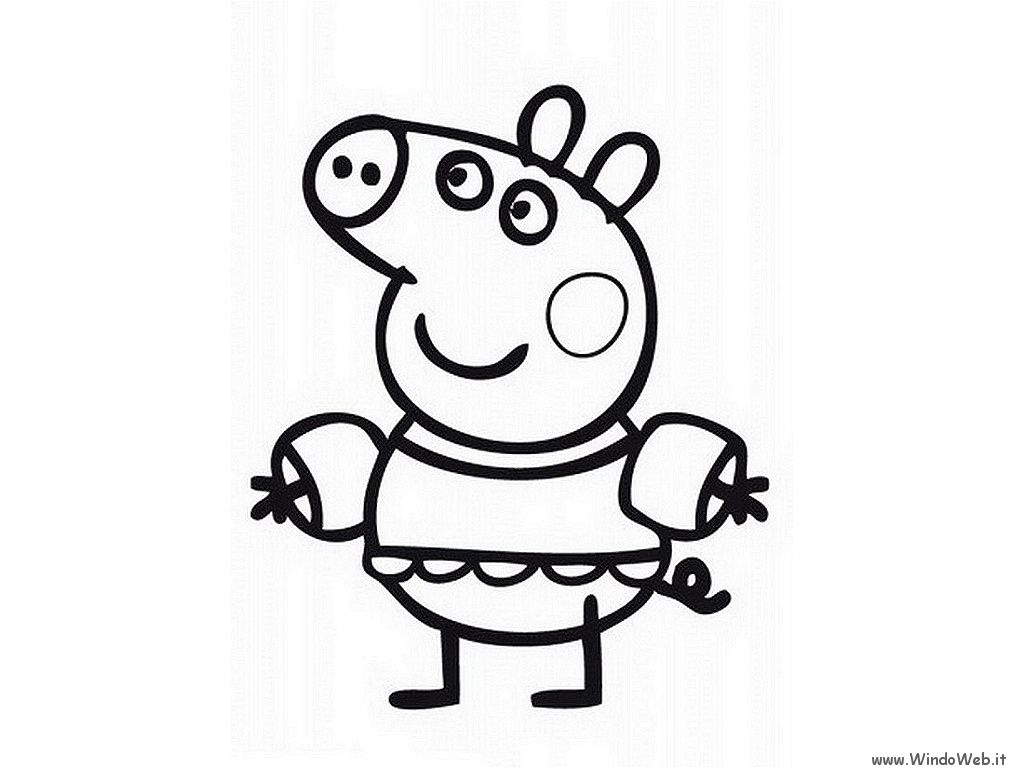 Peppa Pig Birthday Coloring Pages Coloring Home