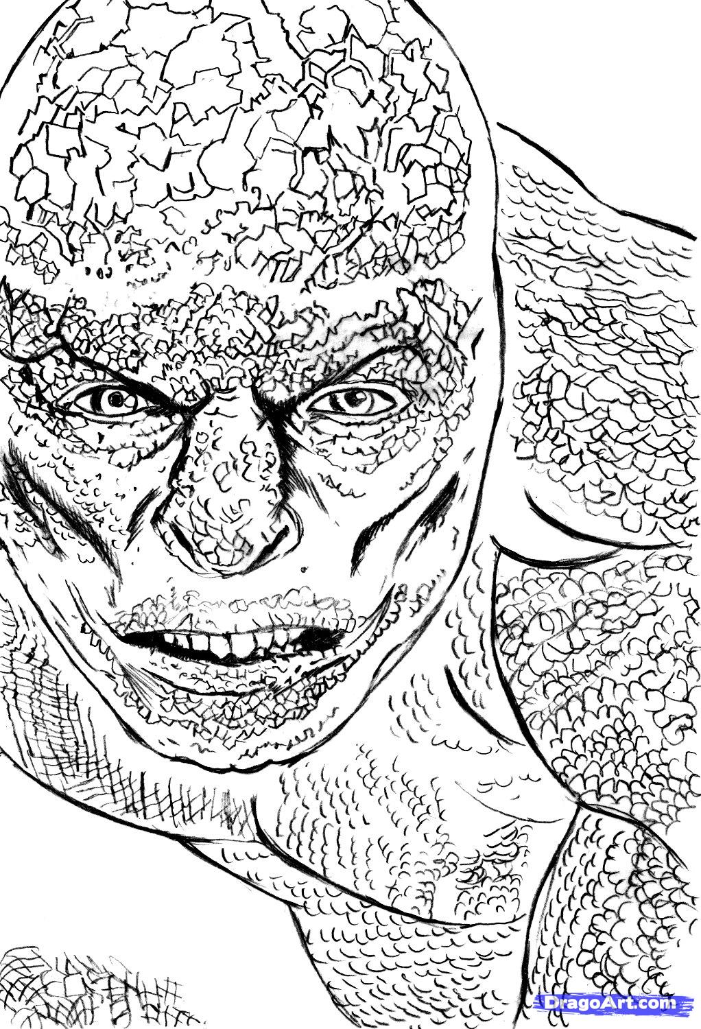 spiderman the lizard coloring pages - the amazing spider man coloring pages coloring home