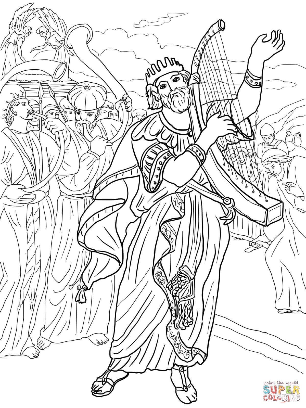 Absalom coloring pages coloring home for King david coloring pages free