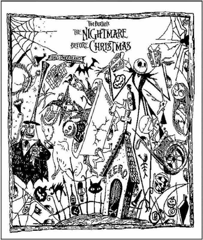 - Free Nightmare Before Christmas Coloring Pages Printable - Coloring Home