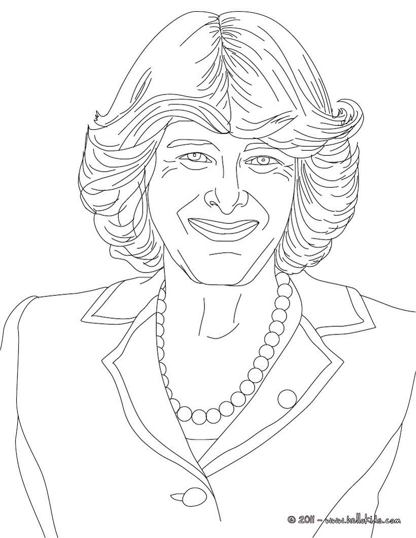 Princess Kate Coloring Pages : Duchess coloring pages az